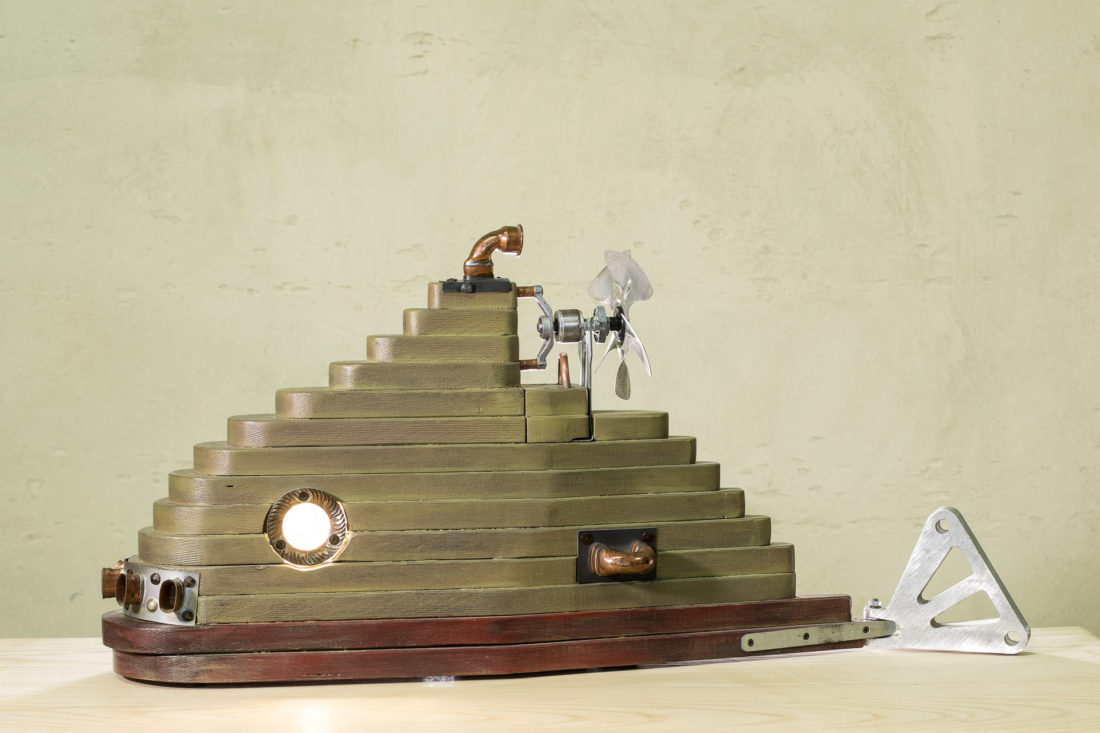Lampada in stile steampunk